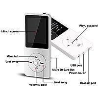 Malloom 2018 Moda Portable MP3 MP4 Player Pantalla LCD FM Radio Videojuegos Película (Blanco)