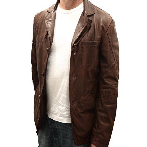 89078 giacca MARITHE FRANCOIS GIRBAUD PELLE giacche uomo jacket men [48]