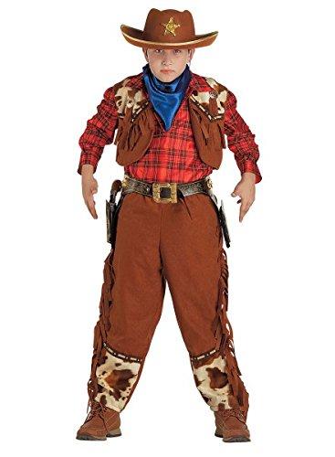 Cowboy Kostüm Jungen, Sheriff Kinderkostüm, Sheriff Hut, Größe:104
