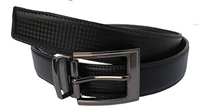 White Tree Black Leather Belts For Men's