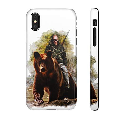 blitz versand germany ® 3D Russland Handy Hülle Glossy Glänzend Hard Premium Qualität Case Putin auf der Jagd M5 Samsung Galaxy S9