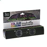 Black Compact Colour Changing Umbrella - Flowers Design
