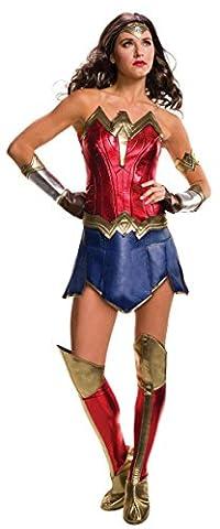 Rubie's Women's Batman v Superman Wonder Woman Deluxe Costume, Medium, (USA 6 - 10), BUST 36 - 38