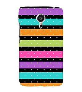 Fiobs Pink Orange Green Violet Band Designer Back Case Cover For Meizu Mx5