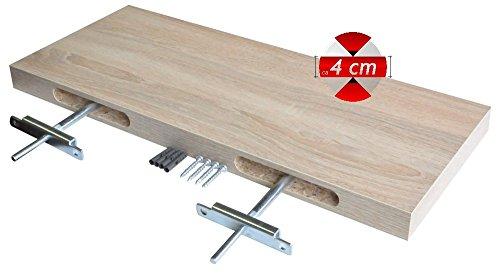 Wandregal halterung unsichtbar  Regalwelt 9006-DL-RUG Design Livingboard, 60 x 25 x 3,8 cm ...