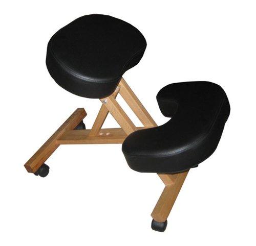 Sedia ergonomica nera sgabello con ruote per casa o ufficio