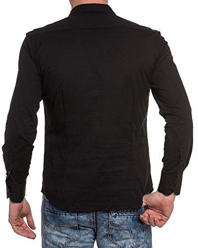 BLZ jeans - Chemise noire unie chic Noir