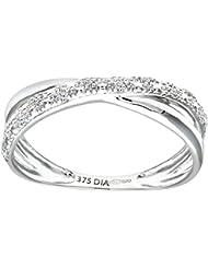 Bague - PR10176W-M - Anillo de mujer de oro blanco (9k) con diamantes