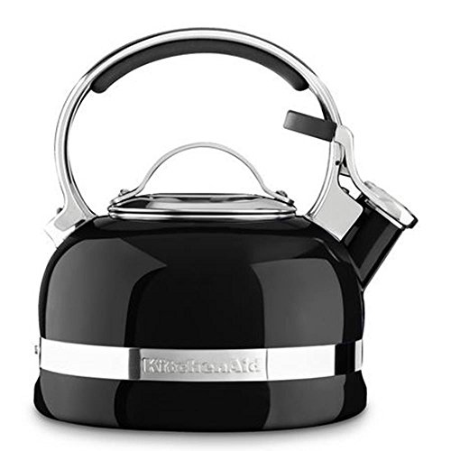 KitchenAid KTEN20S Stainless Steel Whistling Kettle–18.5x 18.5x 17cm Black