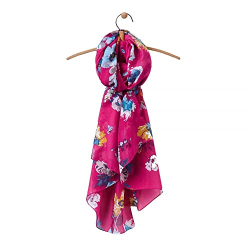 Joules Womens/Ladies Wensley Longline Printed Polyester Scarf Ruby Pink Posy
