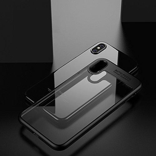 iPhone 6 / 6s Hülle, TOPHAPPY PC + TPU Durchsichtig Transparent Ultra Dünn Hardcover Bumper Schutzhülle für iPhone 6 / 6s Case Cover (iPhone 6 / 6s, Rot) Schwarz