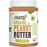 Pintola Organic All Natural Crunchy Peanut Butter, 1Kg (Unsweetened, Non-GMO, Gluten Free, Vegan)