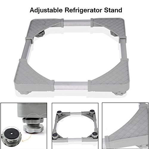 Waschmaschine Mat Refrierator Base Einstellbare Unterlegscheibe Halter Anti-Vibration Bracket Trockner Zubehör Mit 4 Starken Füßen ()