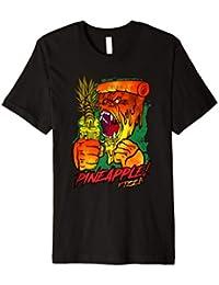 Gorilla Ananas Pizza Hawaii Liebhaber T-Shirt Geschenk Metal