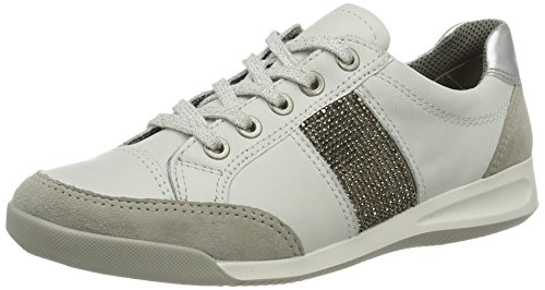 Ara Rom, Sneakers Hautes Femme Weiß (Kiesel,weiss/silber)