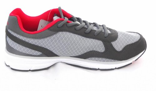 Gola , Baskets pour homme Gris - Grigio (Charcoal/Red/Grey)