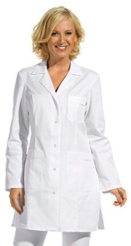 clinicfashion 10212025 Langkasack weiß für Damen, Mischgewebe, Größe 46