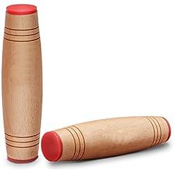 ¡Rodillo de Fidget del juguete del escritorio! Rolling Stick Anxiety Release para Office Home Party Class Bar al aire libre Fácil de llevar (paquete de 2) (Wood)