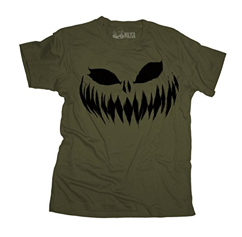 Ma2ca® Halloween Pumpkin Smiley black Herren T-Shirt STE Ben-militarygreen-xl