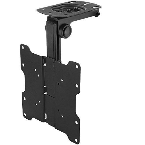 """deleyCON Universal TV & Monitor Deckenhalterung - 10"""" bis 40"""" Zoll (25cm-101cm) - bis 20Kg – max. VESA 200x200mm – 90° Schwenkbar – TV Decken Halterung"""