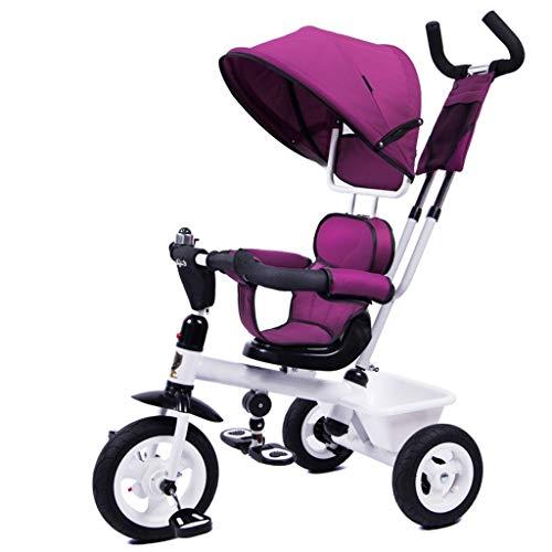 Love lamp-reisesysteme Kinder Dreirad Stoßdämpfung Wear Fahrrad Baby Fahrrad 1-3-5 Jahre alt Kinderwagen (Color : Purple)