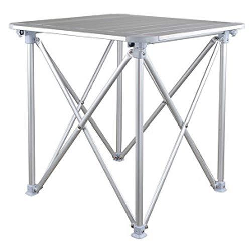 CHENGGUO en Plein air À La Maison Loisirs Tout en Aluminium Pliant Table Pique-Nique Barbecue Table Stall Table Simple en Aluminium Table Petit Casual Simple Portable Pliant Table