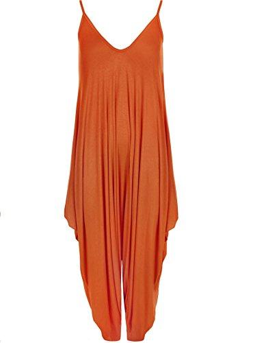 MIXLOT nouvelles dames cami lagenlook barboteuse baggy harem combinaison combishort robe Rust