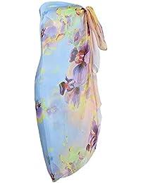 22e0300371d Makroyl Womens Sexy Bohemian Floral Beach Cover up Sarong Wrap Swimsuit  Beachwear