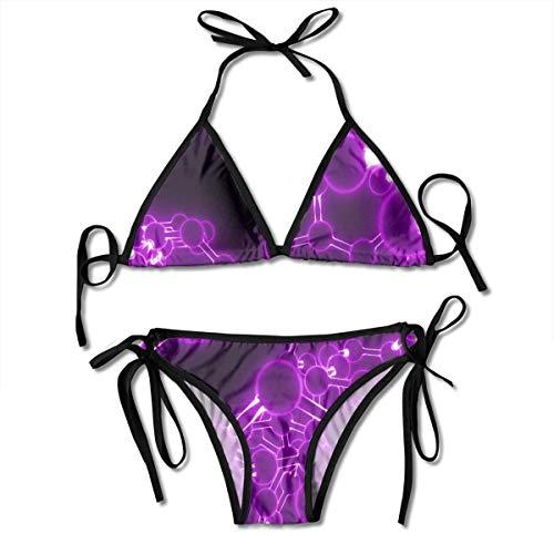 Neon Ball and Stick Sexy Women Beach Swimwear Two Pieces Bathing Suit Bikini Top