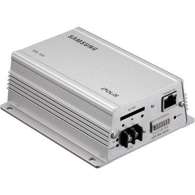 SS421 SAMSUNG SPE - 100, 1 KANAL, SINGLE CHANNEL) VIDEO, H.264, MPEG-KODIERER 4, MJPEG, POE, BI-DIREKTIONALES AUDIO, INTEGRIERTES SD/SDHC-KARTENSLOT, 4-TEILIG-CIF-AUFLÖSUNG Single Channel Video Encoder