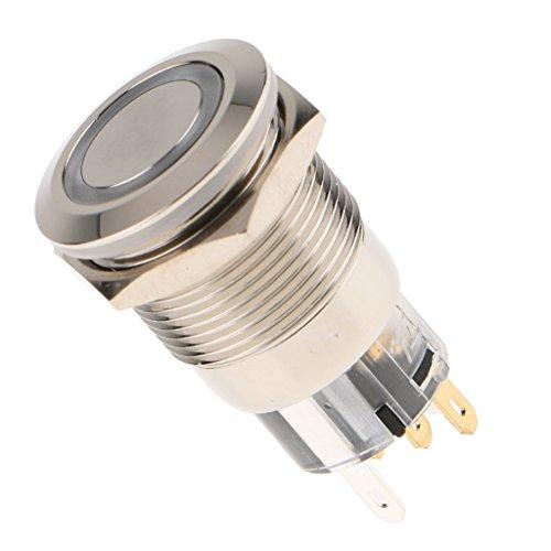 Sharplace Interrupteur à Bouton-Poussoir de Réinitialisation M19x1 - Rouge