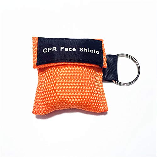 OPSLEA CPR Maske Keychain Ring Emergency Kit Rescue Face Shields One-Way Valve Breathing Barrier First Aid -