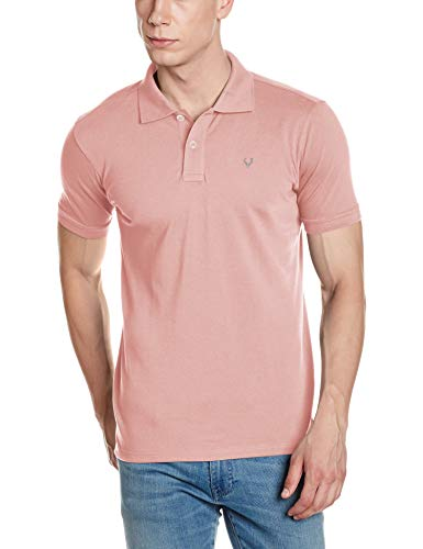 Allen Solly Men's Polo (8907587726977_AMKP317G04236_Small_Orchid Pink)