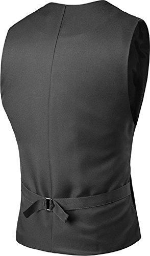 Sportides Herren Waistcoat Gilet Business Leisure Gentleman Vest Suits Blazer JZA005 JZA005_Gray