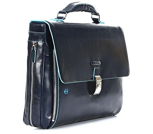 41VgQfg L4L - Piquadro Blue Square maletín fino expanible portaordenador concompartimento portaiPad®/iPad®Air - CA3111B2