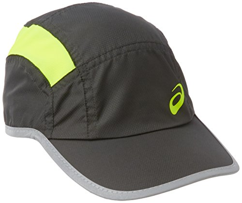 asics-casquette-de-course-pied-dark-grey-safety-yellow-58