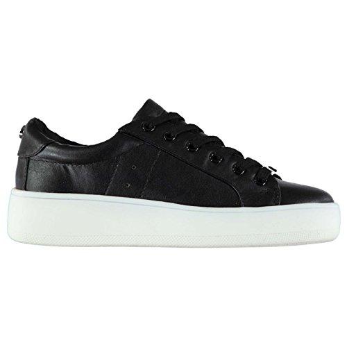 Steve Madden Femmes Bertie Chaussures Baskets À Lacets Sneakers Sport Running Noir Suède
