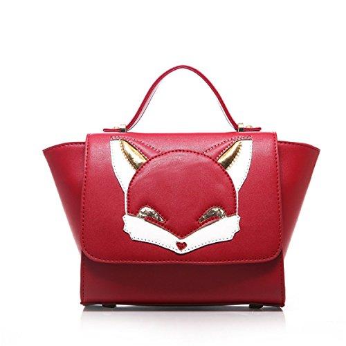 Frauschultertasche Messenger Bag Handtasche Tasche Fuchs Flügel Red