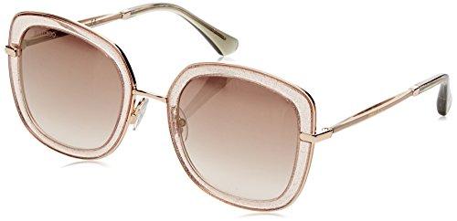 Jimmy Choo Damen GLENN/S NH QBQ Sonnenbrille, Pink Glitterpk/Brown Ms Gld, 52