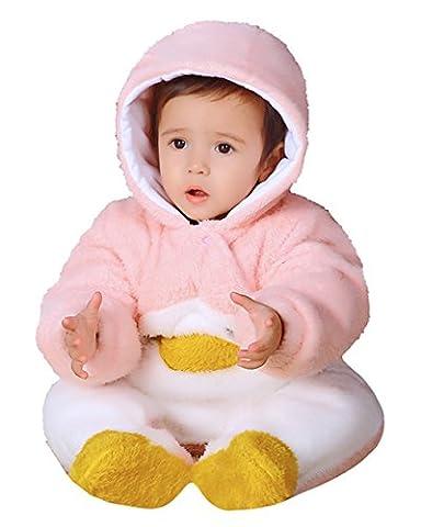 Ghope Bébé unisexe combinaison barboteuse epais a capuche Animal Manteau-Enfant