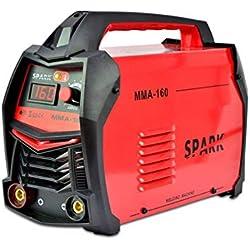 Spark - Poste à Souder à Inverseur à électrode, 160 Amp, avec masque de soudage et accessoires, 230 V, rouge - MMA-160