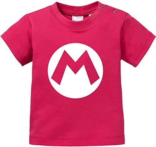 Kostüm Kleinkind Luigi Mario - AngryShirts Mario Kostüm T-Shirt Baby Bio Baumwolle
