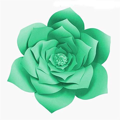 CHRONSTYLE 1pcs 30cm DIY Papierblumen-Kinder Foto Hintergrund Künstliche Blumen Hochzeit Geburtstag Party-Ausgangswand-Dekoration (6, OneSize)