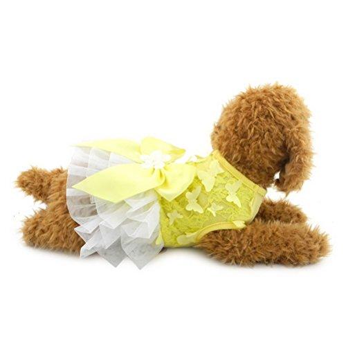 zunea Schmetterling Gaze Schleife Sommer Pet Tutu Kleid Puppy Formale Rock Prinzessin Mädchen Kleiner Hund Katze Sundress Geburtstag Party Kleidung Hot-formale Kleid