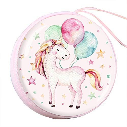Qinlee Rund Münzbörsen Einhorn Candy-Box Kinder Geldbörsen Coin Purse Damen Mädchen Wallet Pouches Geldbeutel Mini Kulturbeutel (Candy Coin)
