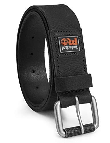 Timberland PRO Herren 38mm Boot Leather Belt Gürtel, Black (Rubber Patch), 46 M EU (Timberland Gürtel Aus Leder Für Männer)