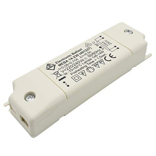 EVG Elektronisches Betriebsgerät Vorschaltgerät Trafo 8-14 Watt 230V MEBA 14-230 (401227) Leuchtstoffröhren Leuchtstofflampen