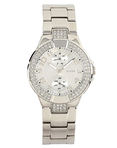 GUESS-Womens-Quartz-Watch-with-Silver-Dial-Analogue-Display-and-Silver-Stainless-Steel-Bracelet-W12638L1