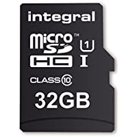 Integral UltimaPro 32 GB MicroSDHC Class 10 Memory Card up to 40 MB/s, U1 Rating