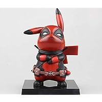 1PC Nuevo Pokemon Pikachu Deadpool Cosplay PVC Acción Figura Estatuas Modelo Juguetes Regalos